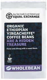 Equal Exchange Organic Ethiopian Yirgacheffe Coffee Beans 227g x8