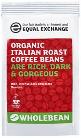 Equal Exchange Organic Italian Roast Coffee Beans 227g x8