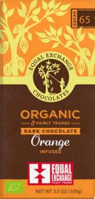 Equal Exchange Organic 65% Orange Infused Dark Chocolate 100g x12