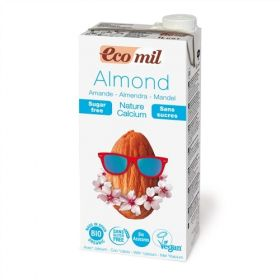 Ecomil Almond Calcium Milk Sugar-Free 1L x6