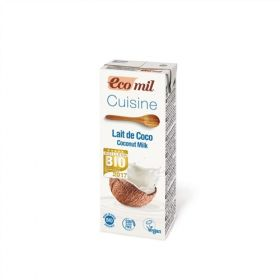 Ecomil Coconut Cuisine Sugar-Free Cooking Cream 200ml x24