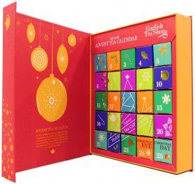 English Tea Organic Book Style Red Advent Calendar (25 tea bags) 2g x6