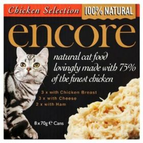 Encore Cat Food Chicken Breast Multipack (Can) (70g x8) x1
