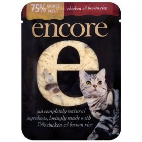 Encore Cat Food Chicken & Brown Rice (Pouch) 70g x16