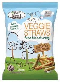 Eat Real Kale, Tomato, Spinach Kids Veggie Straws 20g x24