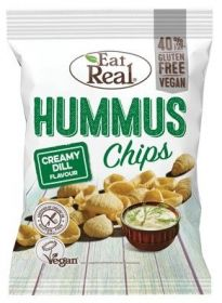 Eat Real Creamy Dill Hummus Chips 45g x12