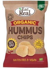 Eat Real Organic Sea Salt Hummus Chips 100g x10