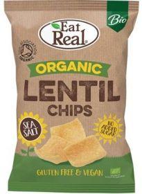 Eat Real Organic Sea Salt Lentil Chips 100g x10