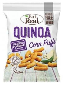 Eat Real Jalapeno and White Cheddar Quinoa Corn Puffs 113g x12