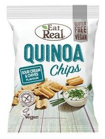 Eat Real Sour Cream and Chive Quinoa Chips 80g x10