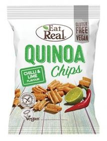Eat Real Chilli and Lime Quinoa Chips 80g x10