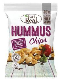 Eat Real Tomato and Basil Hummus Chips 135g x10
