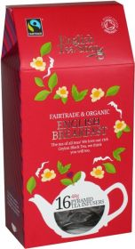 English Tea Shop Fair Trade and Organic English Breakfast Pyramid Tea Infusers 48g (16's) x6