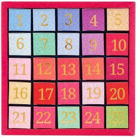 English Tea ETS Org. Numerical Advent Calendar - 25ct Nylon Pyramid x1