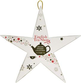 English Tea Red & Gold Star x1