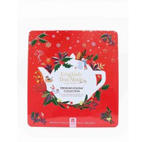English Tea Organic Premium Holiday Collection Red Gift Tin 72ct x6