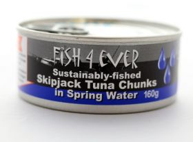 Fish 4 Ever Skipjack Tuna Chunks in Spring Water 160g x15
