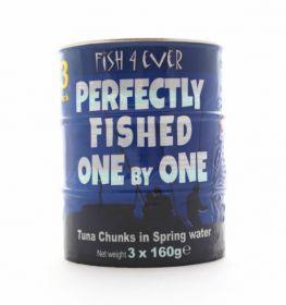 Fish 4 Ever Skipjack Tuna Chunks in Spring Water (Triple Pack) 160gx3 (x12)