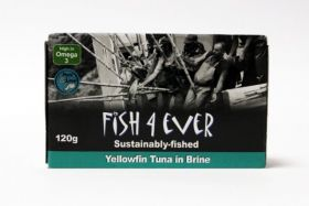 Fish 4 Ever Yellowfin Tuna Fish in Brine 120g x10