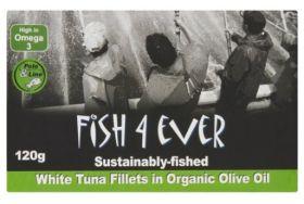 Fish 4 Ever White Tuna Fish in Organic Olive Oil 120g x10