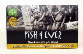 Fish 4 Ever Yellowfin Tuna in Organic Sunflower Oil 120g x10