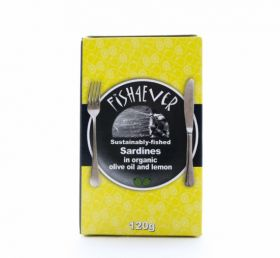 Fish 4 Ever Whole Sardines in Organic Olive Oil & Lemon 120g x10