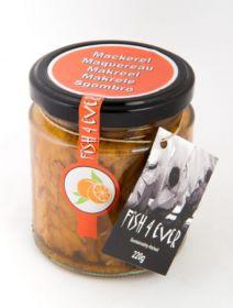 Fish 4 Ever Peppered Mackerel Fillets in Organic Orange Juice 220g x6