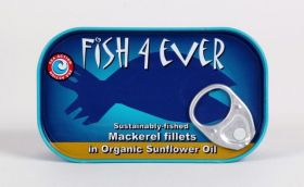 Fish 4 Ever Mackerel Fillet in Organic Sunflower Oil 120g x11
