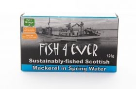 Fish 4 Ever Mackerel in Spring Water 125g x10