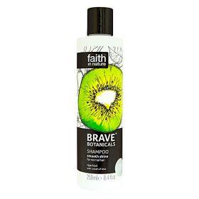 Faith in Nature Brave Botanicals Shampoo Smooth Shine - Kiwi & Lime 6x250ml