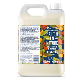 Faith in Nature 5L Body Wash Grapefruit & Orange 1x5l