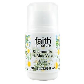 Faith in Nature Roll On Chamomile Aloe Vera 6x50ml