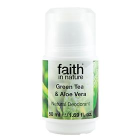 Faith in Nature Roll On Green Tea & Aloe Vera 6x50ml
