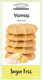 Farmhouse Biscuits Sugar Free Viennese Shorties 150g x12