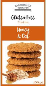 Farmhouse Gluten Free Honey & Oat Biscuits 150g x12