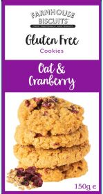 Farmhouse Gluten Free Oat & Cranberry Biscuits 150g x12