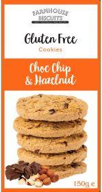 Farmhouse Gluten Free Choc Chip & Hazelnut Biscuits 150g x12