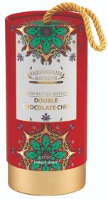 Farmhouse Kensington Gift Tube Double Chocolate Biscuits 150g x12