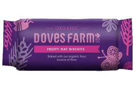 Doves Farm Fruity Oat Biscuits 200g x12