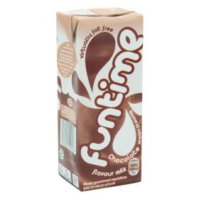 Fun Time Chocolate (Virtually Fat Free Skimmed Milk Cartons with Straw) 200ml x30