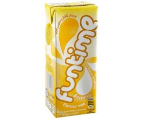 Fun Time Banana (Virtually Fat Free Skimmed Milk Cartons with Straw) 200ml x30