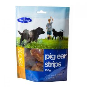 Hollings Pig Ear Strips For Dogs 150g x8
