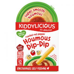 Kiddylicious Houmous Dip Dips Red Pepper 67g x7