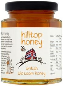 HillTop Honey British Blossom Honey Jar 227g x4