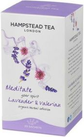 Hampstead Organic Lavender & Valerian Herbal Infusion Tea (individually wrapped) 20g x4