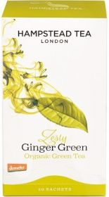 Hampstead Organic Green Tea with Ginger (individually wrapped) 40g x4
