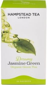 Hampstead Organic Green Tea with Jasmine (individually wrapped) 40g x4
