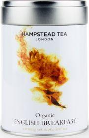 Hampstead Tea Organic English Breakfast Leaf Black Tea (Tin) 100g x6