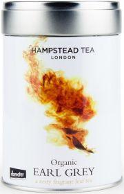 Hampstead Tea Organic Earl Grey Leaf Black Tea (Tin) 100g x6