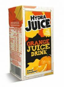 Hydra 75% Orange Juice Drink Cartons with Straw 200ml x24